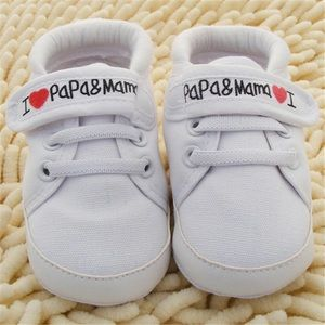 Other - Infant Baby Soft Sole Shoes - White